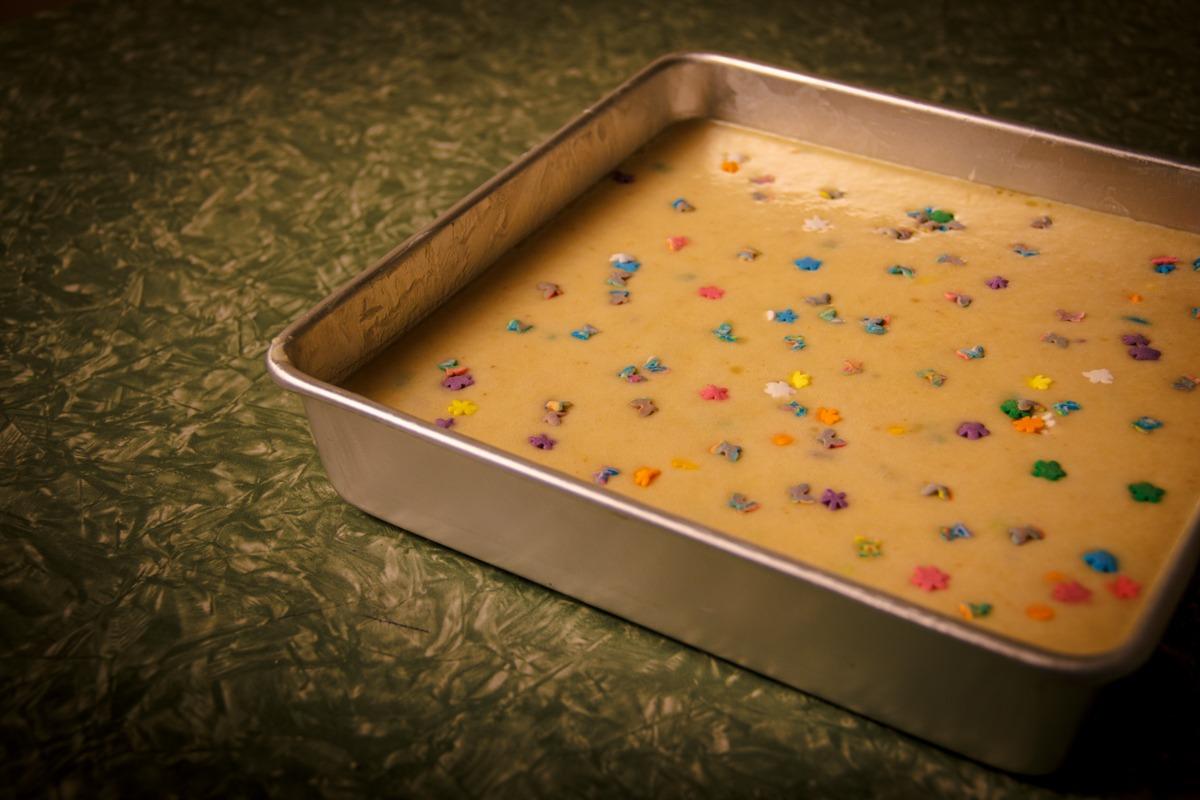 Butter Mochi in Pan