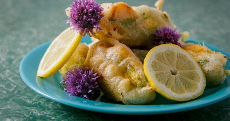 Fried Stuffed Squash Blossoms