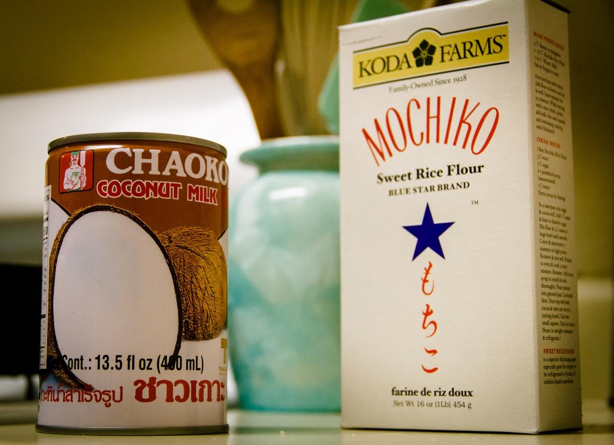 Mochi Flour and Coconut Milk
