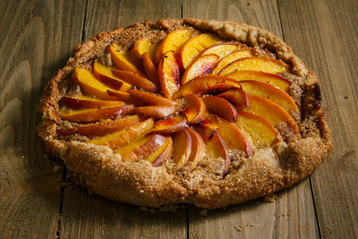 Finished Peach Galette