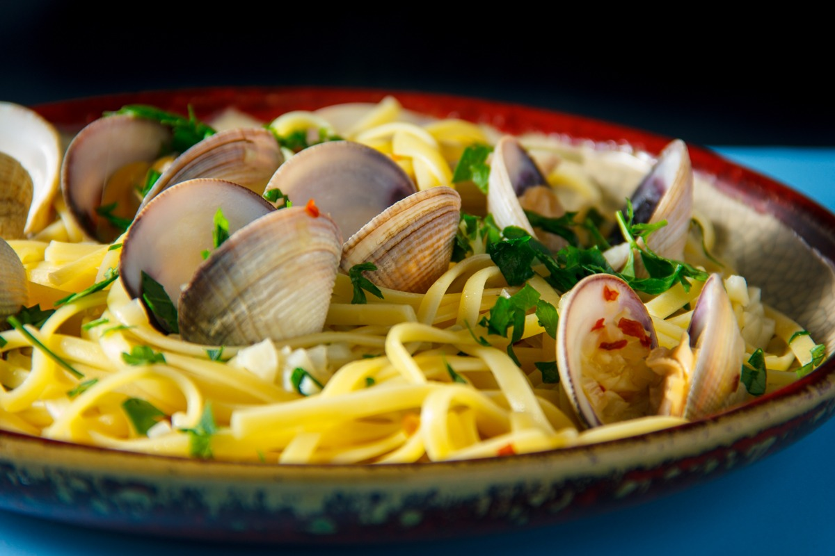 Clam Pasta Close Up