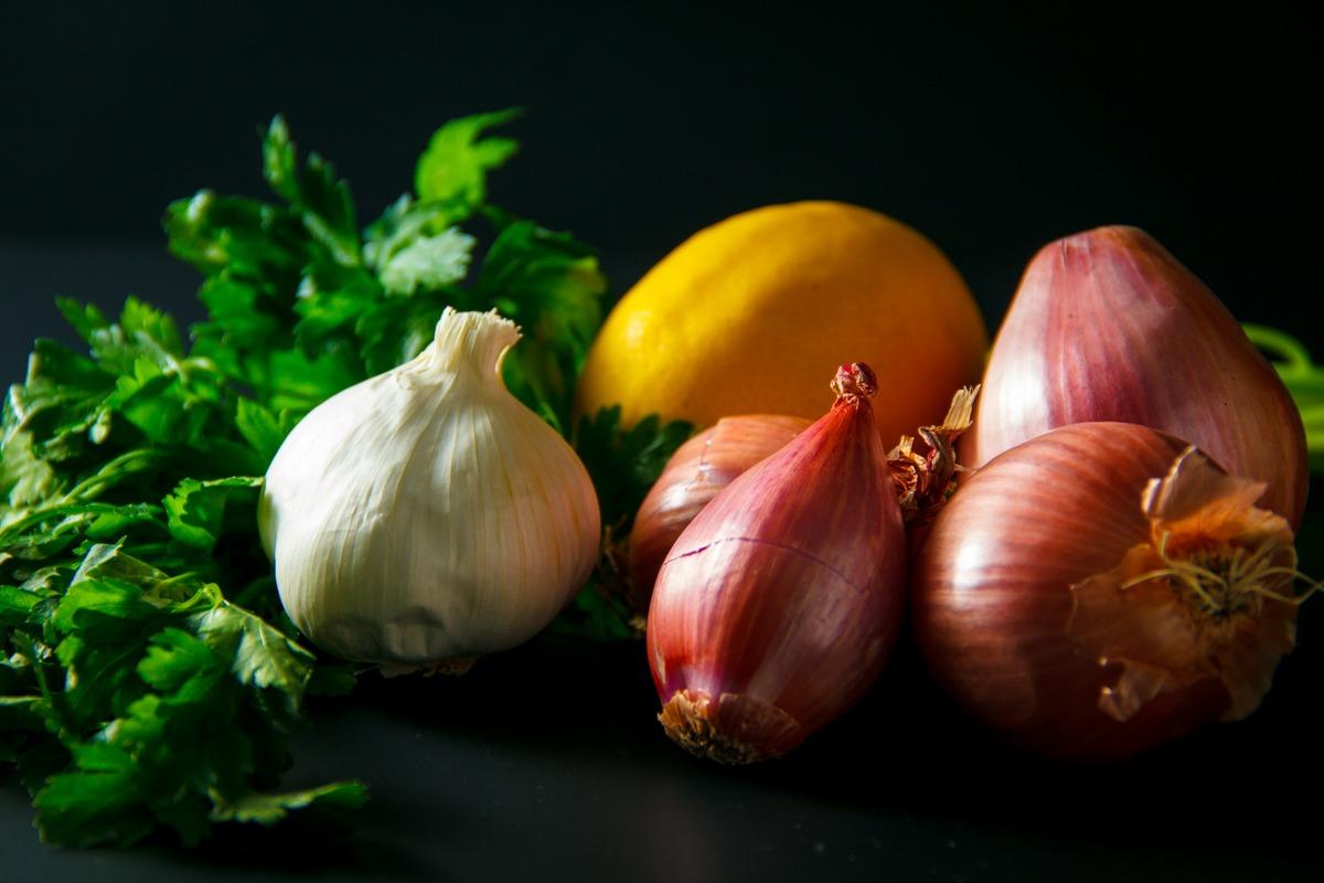 Garlic, onions, and shallots